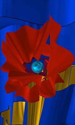 Abstract Fashion Digital Art - Abstract Flower by Alberto RuiZ