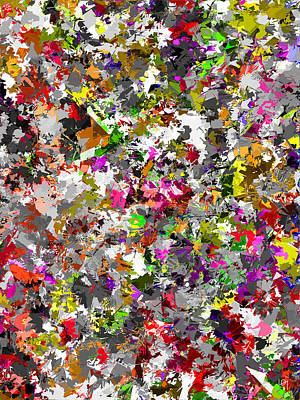Abstract Flower Bed Autumn Color Original by Lawrence O'Toole