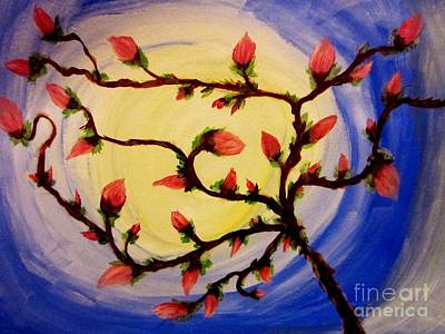 Abstract Art Painting - Abstract Flower Buds by Stephanie Zelaya