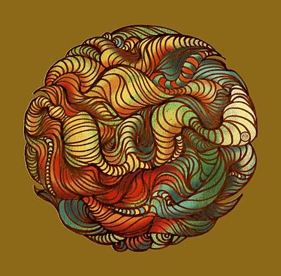 Google Drawing - Abstract Forest Ball by Irina Effa