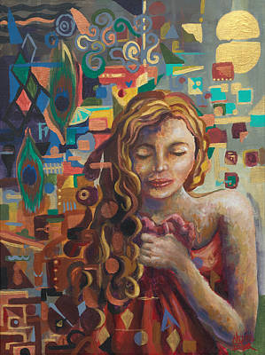 Emphasize Painting - Abstract Girl by Nicole Fisher