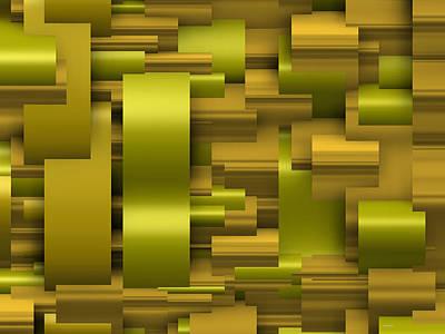 Composition Digital Art - Abstract Gold by Alberto  RuiZ