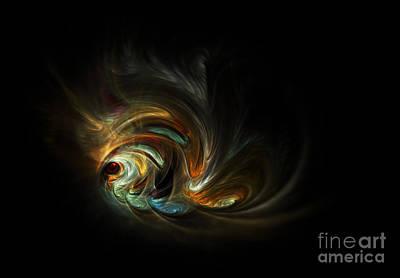Goldfish Digital Art - Abstract  Goldfish by Larissa Antonova