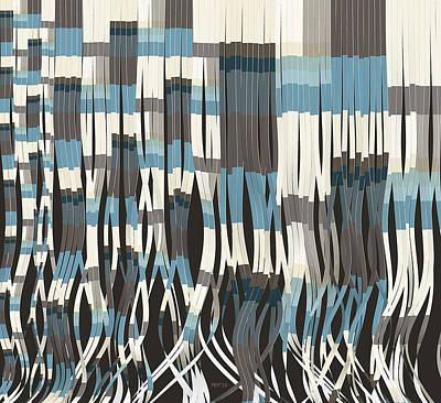 Tassel Digital Art - Abstract Graphic Ribbons by Phil Perkins