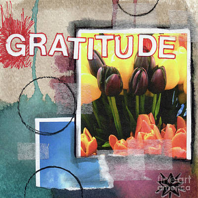 Abstract Gratitude Print by Linda Woods