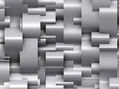 Composition Digital Art - Abstract Grey by Alberto  RuiZ