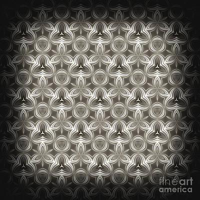 Geometry Digital Art - Abstract Grey Metallic Pattern by Konstantin Sevostyanov