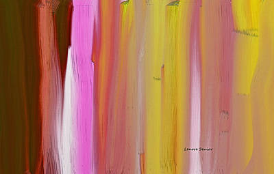 Abstract Horizontal Print by Lenore Senior