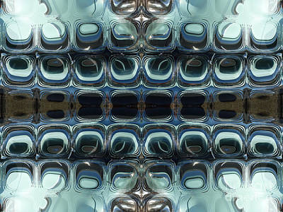 Abstract Horizontal Tile Pattern - Steel Print by Jason Freedman