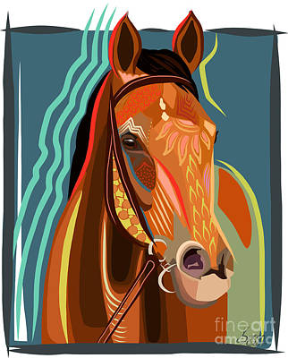 Abstract Horse Print by Dania Sierra