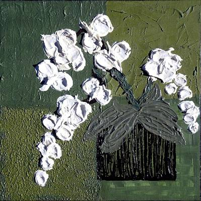 Impasto Painting - Abstract Impressionism Orchids II by Holly Anderson