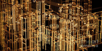 Engineering Photograph - Abstract Industrial And Technology Banner Background by Michal Bednarek