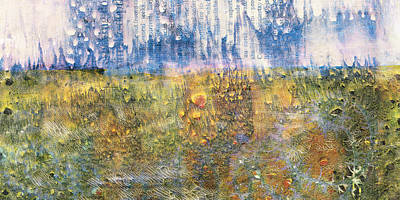 Upscale Painting - Abstract Landscape Art - Only Words - Sharon Cummings by Sharon Cummings