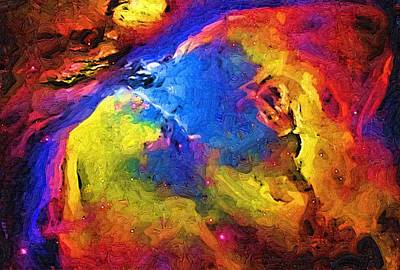 Abstract Landscape Print by Gina Roseanne
