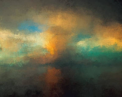 Stormy Mixed Media - Abstract Landscape 2 by Lonnie Christopher