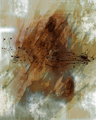 Copper Color Painting - Abstract by Lee Ann Asch