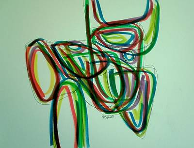 Drawing - Abstract Lines 5 by B L Qualls