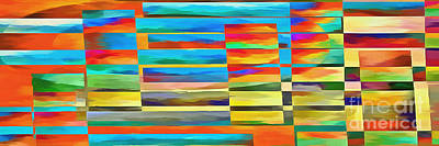 Abstract Lines And Shapes 2 Print by Edward Fielding