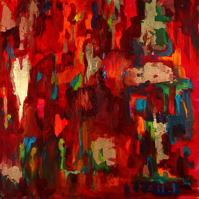 Abstract Love Print by Billie Colson