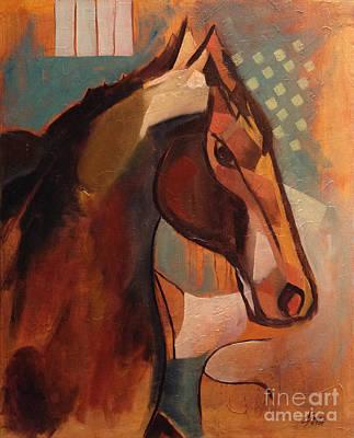 Abstract Modern Horse Print by Dania Sierra