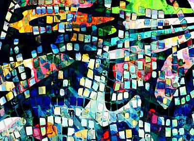 Abstract Mixed Media - Abstract Mosaic by Nannie van der Wal