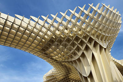 Abstract Of Metropol Parasol Pod At Plaza Of The Incarnation Sev Print by Reimar Gaertner