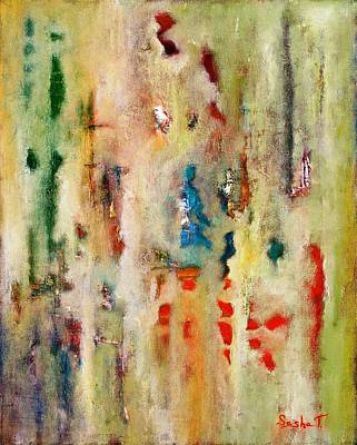 Abstract Oil Painting Pallet Knife Painting Extra Paint Print by Sasha Toporovsky