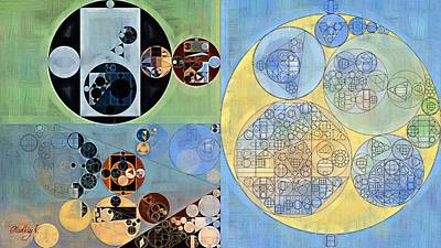 Rectangles Digital Art - Abstract Painting - Bali Hai by Vitaliy Gladkiy