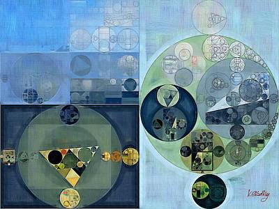 Abstract Creations Digital Art - Abstract Painting - Bermuda Grey by Vitaliy Gladkiy