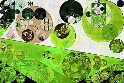 Forms Digital Art - Abstract Painting - Black Bean by Vitaliy Gladkiy