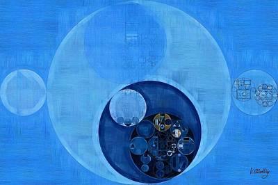 Forms Digital Art - Abstract Painting - Bleu De France by Vitaliy Gladkiy