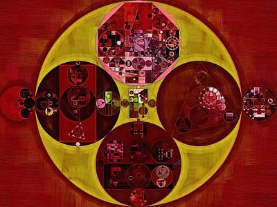Rectangles Digital Art - Abstract Painting - Bulgarian Rose by Vitaliy Gladkiy