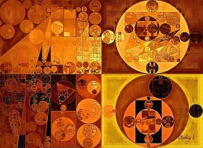 Carrot Digital Art - Abstract Painting - Carrot Orange by Vitaliy Gladkiy