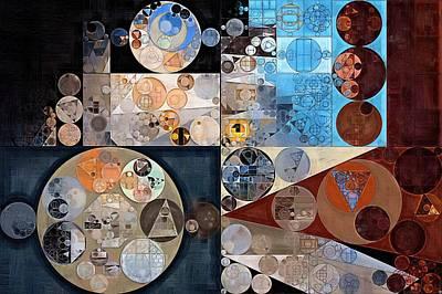 Rectangles Digital Art - Abstract Painting - Casper by Vitaliy Gladkiy