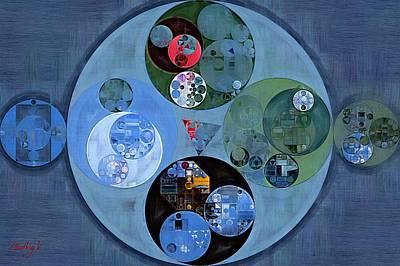 Forms Digital Art - Abstract Painting - Chambray by Vitaliy Gladkiy