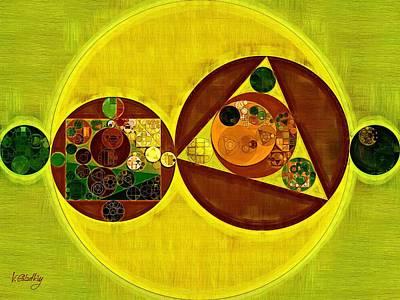 Circles Digital Art - Abstract Painting - Citrine by Vitaliy Gladkiy