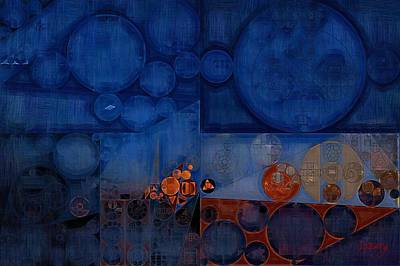 Abstract Painting - Cool Black Print by Vitaliy Gladkiy