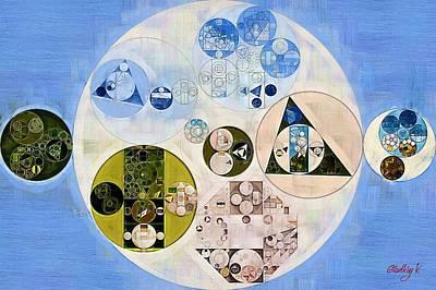Abstract Painting - Dark Pastel Blue Print by Vitaliy Gladkiy