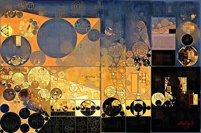 Abstract Painting - Davy Grey Print by Vitaliy Gladkiy