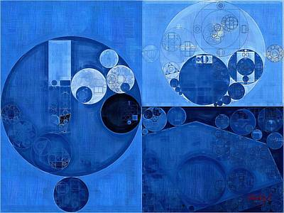 Abstract Painting - Denim Print by Vitaliy Gladkiy