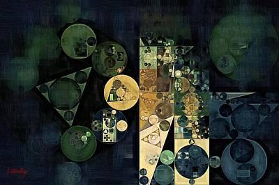 Forms Digital Art - Abstract Painting - Ecru by Vitaliy Gladkiy