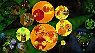 Rectangles Digital Art - Abstract Painting - Gold Tips by Vitaliy Gladkiy