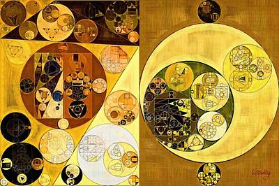 Rectangles Digital Art - Abstract Painting - Golden Brown by Vitaliy Gladkiy