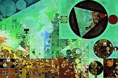 Abstract Painting - Granny Smith Apple Print by Vitaliy Gladkiy