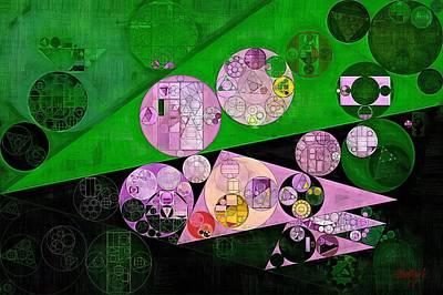 Abstract Painting - India Green Print by Vitaliy Gladkiy