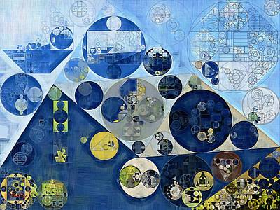 Abstract Painting - Kashmir Blue Print by Vitaliy Gladkiy