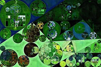 Phthalo Green Digital Art - Abstract Painting - La Palma by Vitaliy Gladkiy