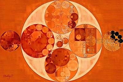 Carrot Digital Art - Abstract Painting - Mahogany by Vitaliy Gladkiy