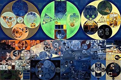Round Digital Art - Abstract Painting - Midnight Express by Vitaliy Gladkiy