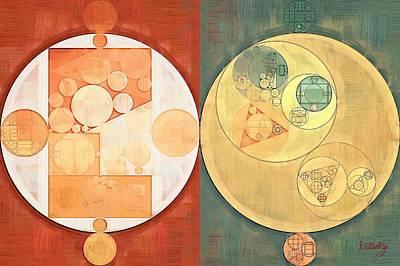 Round Digital Art - Abstract Painting - Milk Punch by Vitaliy Gladkiy